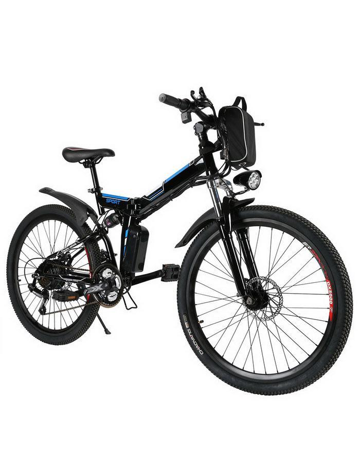 Bicycle Mountain-Bike Folding Full-Suspension Frame Brake 27-Speed Alluminium 26--Wheel