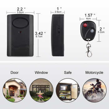 Universale 120db Moto Moto Scooter Anti-furto Sistema Di Allarme Di Sicurezza Includono Batteria Chiave A Distanza Di Controllo Del Sistema Di Allarme
