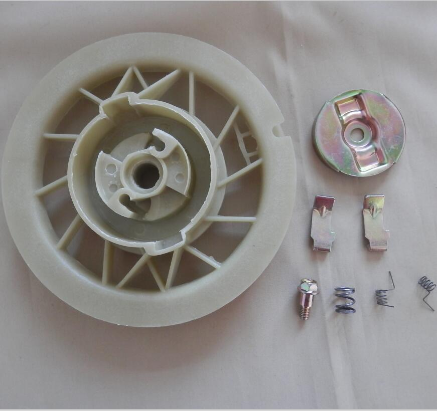 GX610 STARTER PAWL KIT FOR <font><b>HONDA</b></font> <font><b>GX620</b></font> GX630 GX670 V-TWIN 20HP PULLEY FRICTION PLATE PULL START SCREW SPRING RING RETAINER image