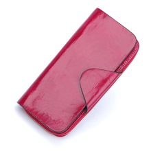 Zipper Genuine Leather Long Design wallet