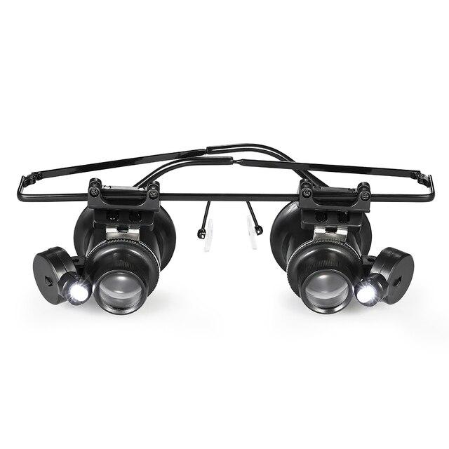 20X Double Eye Watch Repair Magnifier Loupe Magnifying Jeweler Watch Repair Eye