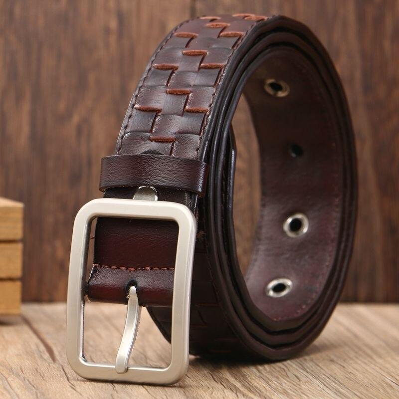 2018 new brand fashion designer womens leather belts silver pin buckle belt men luxury waist girdle green blue red