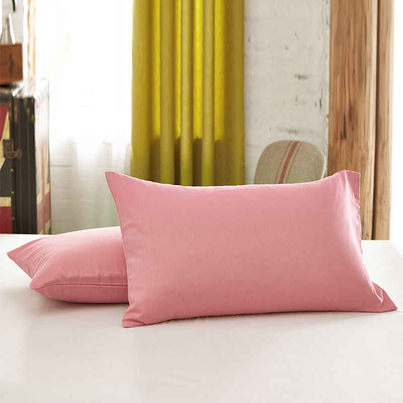Solid Color Sanding Pillow Case Envelope Type Bedding Pillow Covers Queen King Modern White Gray Pillowcase Size 50x75cm 50x90cm