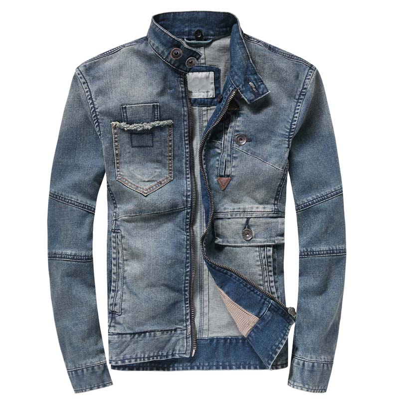 Осенняя Модная Джинсовая куртка с капюшоном, мужская хлопковая джинсовая куртка, Повседневная тонкая эластичная Ретро винтажная куртка, Му...
