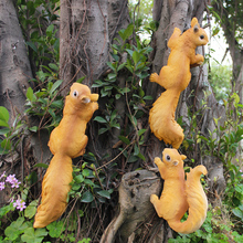 resin garden squirrel ornament kindergarten animal statue home decor crafts decoration objects villa outdoor simulation figurine