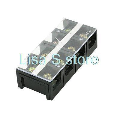 4-Position 600V 150A Double Row Barrier Block Screw Terminal Strip