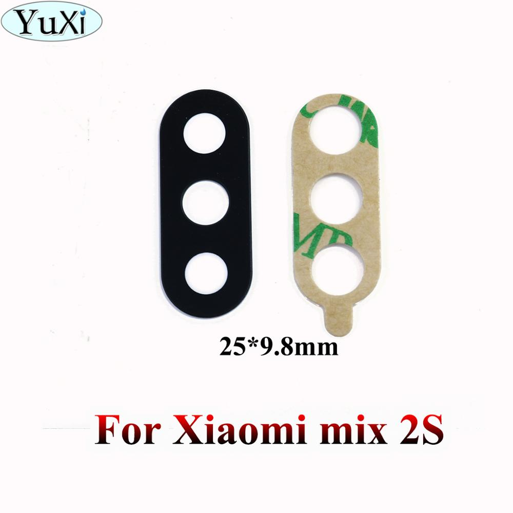 YuXi For Xiaomi Mi MIX 2S Back Camera Glass Lens For Xiaomi Mi Mix2S Rear Camera Glass Lens With Glue Replacement Repair
