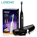 2016 New Sonic Electric Toothbrush with Portable Box Rechargeable Teeth Brush Oral Hygiene for Adult Black LEBOND M1