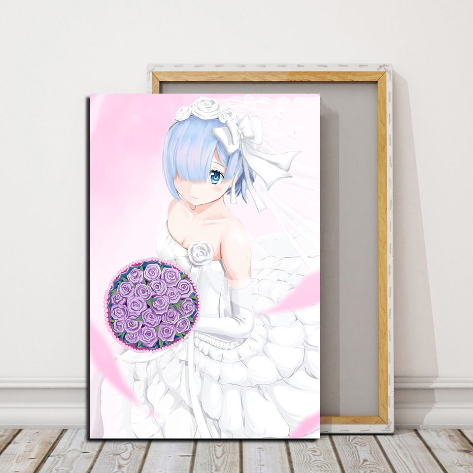 Top-Rated Canvas Print Princess Re:ZERO -Starting Life In Another World Anime Painting 1 Piece Wall Art Decor Style Poster Frame image