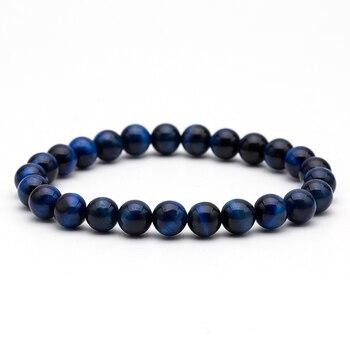 8mm Tiger eye nature stone lava stone buddha beaded bracelets bangles for men Male strand bracelet jewelry accessories wholesale