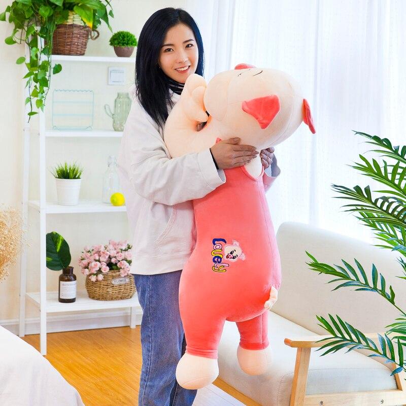 huge 100cm prone pig plush toy lovely cartoon pig soft doll hugging pillow birthday gift w2125huge 100cm prone pig plush toy lovely cartoon pig soft doll hugging pillow birthday gift w2125