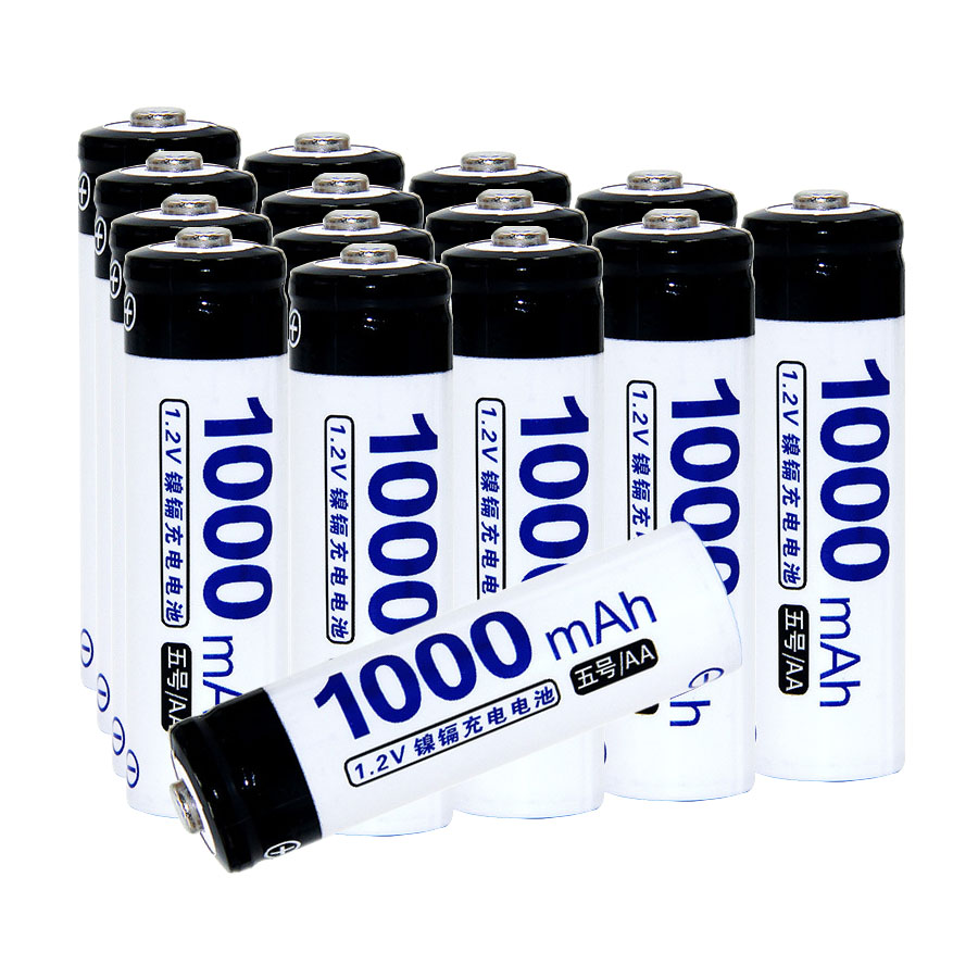 Real capacity! 15 pcs AA 1.2V NIMH AA rechargeable battery 1000mah for camera razor toy remote control flashlight 2A batteries