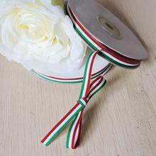 Вечерние ленты 20 мм из полиэстера, 108 ярдов, Италия, флаг, корсаж, для бабочки, заколки для волос, зеленый, белый, красный фестиваль, декор F5233B