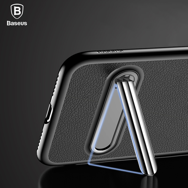 sports shoes c0cd1 c9c7d US $9.44  Baseus Luxury Kickstand Case For iPhone X Full Protection Bracket  Cases For iPhone X Case + Magnetic Stand Phone Holder Cover-in Fitted ...