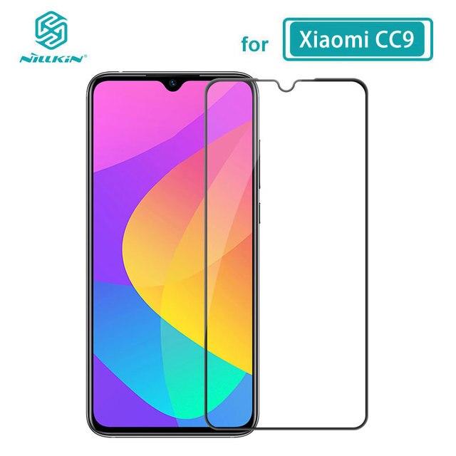 Xiaomi CC9E CC 9E Mi9 Lite 용 강화 유리 xiaomi Mi 9 Lite 유리 용 nillkin cp + pro 2.5d 풀 접착제 필름