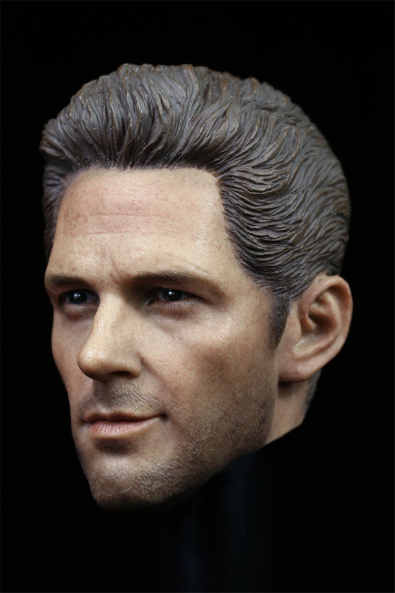 Mnotht Head Sculpt 1/6 Scale ANT-MAN Paul Rudd Head Sculpt For Hot Toys Phicen Male Body In Stock Action & Toy Figures l30 1 6 scale the game of death bruce lee head sculpt and kungfu clothes for 12 inches figures bodies
