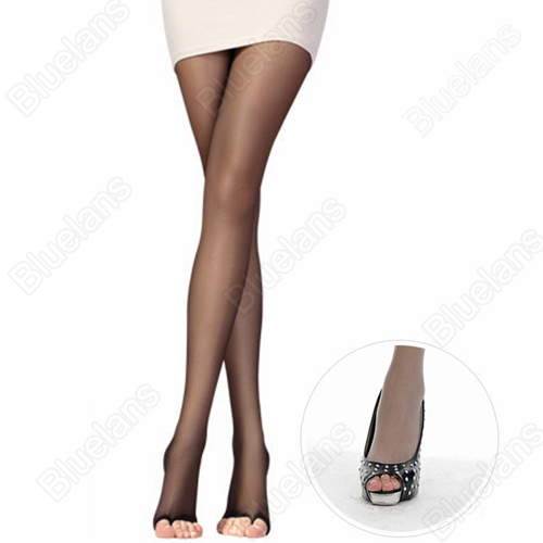 2016 hotPretty Womens open toe sheer Ultra-thin Tights Pantyhose Stockings 8QVZ