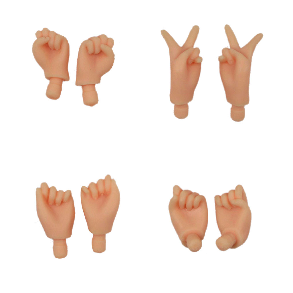 New 4 Pairs Plastic Assorted Flexible Joints Movable Body's Hand For Blythe Doll Normal Skin Dolls Accessories Kid Creative Gift blygirl blyth doll golden wave curls doll no 31bl74 joints body 19 joints normal skin the hand can be rotated