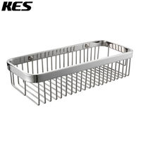 KES SOLID SUS 304 Stainless Steel Shower Caddy Bath Basket Storage Shelf Hanging Organizer Rustproof Wall Mount,Polished/Brushed