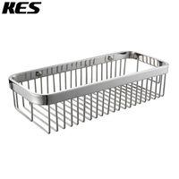 KES SOLID SUS 304 Stainless Steel Shower Caddy Bath Basket Storage Shelf Hanging Organizer Rustproof Wall Mount,Polished/Brushed
