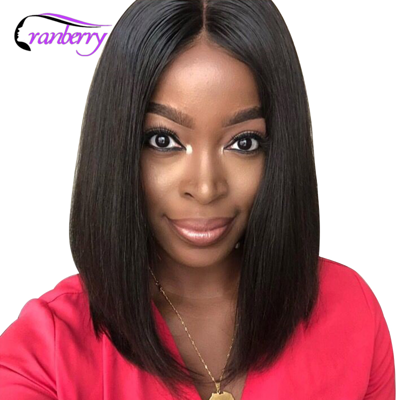 Cranberry Hair Straight Hair 13x4 Lace Front Wig Peruvian Hair Bob Lace Front Wigs Remy Hair