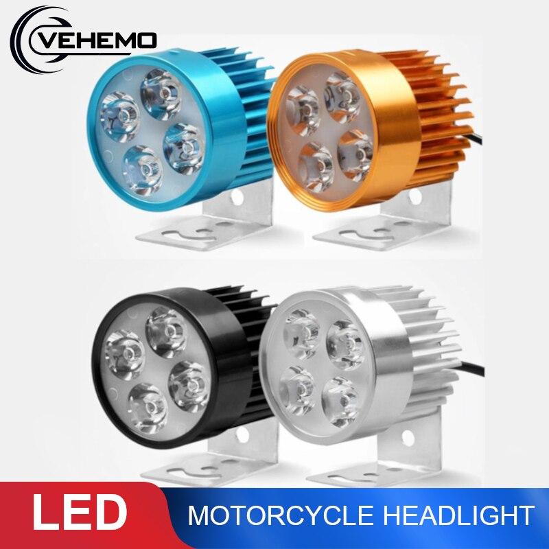 Vehemo фары мотоцикла фар e-велосипед 12 V-90 V светодиодный мото фар фары пятно света Водонепроницаемый IP44 светодиодная лампочка свет