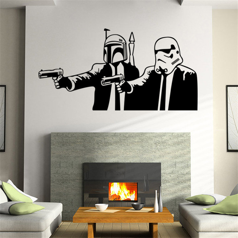 Aliexpress.com : Buy Star Wars Stormtrooper Helmet Wall Sticker Star Wars  Wall Stickers For Kids Room Decoration Living Room Bedroom Background Decal  From ...
