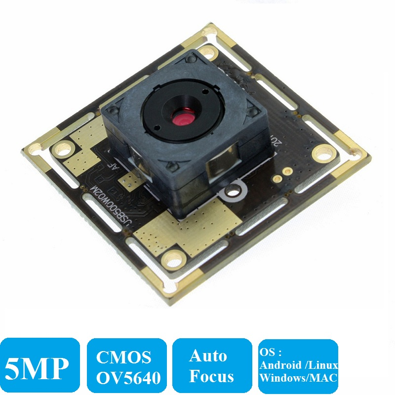 цена на ELP 5Megapixel high resolution CMOS OV5640 USB2.0 MIni Camera Board  Auto Focus HD mini Windows ,Android,Linux Camera Module