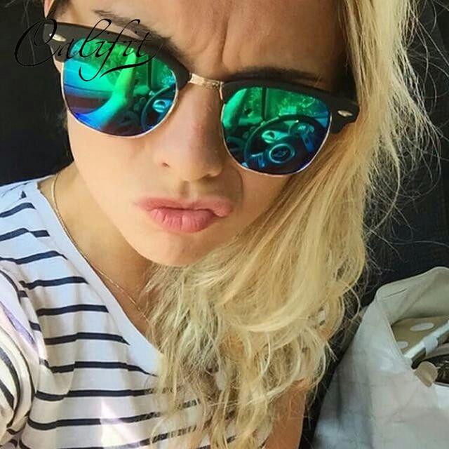 03f1c6ad77de1 CALIFIT 2018 Novo Clássico Polarizada Óculos De Sol Mulheres Espelhar Homens  Óculos Marca Designer UV400 Shades