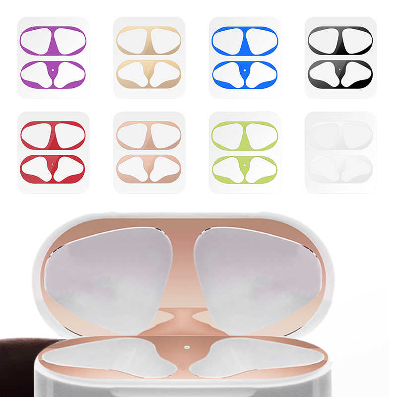 Optional Dust Guard for AirPod Skin Protective Sticker Metal Conformable for Airpods Earphone Case Cover Shell Skin 2019 New Bag