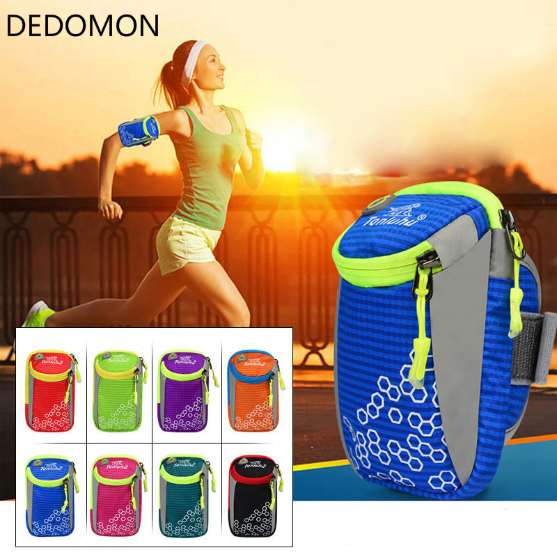 6 inches Outdoor Sport Running Arm Bag Wrist Pouch Exercise Jogging GYM Adjustable Waterproof Phone Arm Bag for iPhone 6s plus convenient sporty water resistant neoprene arm bag stylus for iphone 5c white