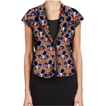 Fashion African Print Women Suit Jacket Africa Festive Ladies Short Sleeve Tailored Blazers For Party Cutomize Africa Clothing