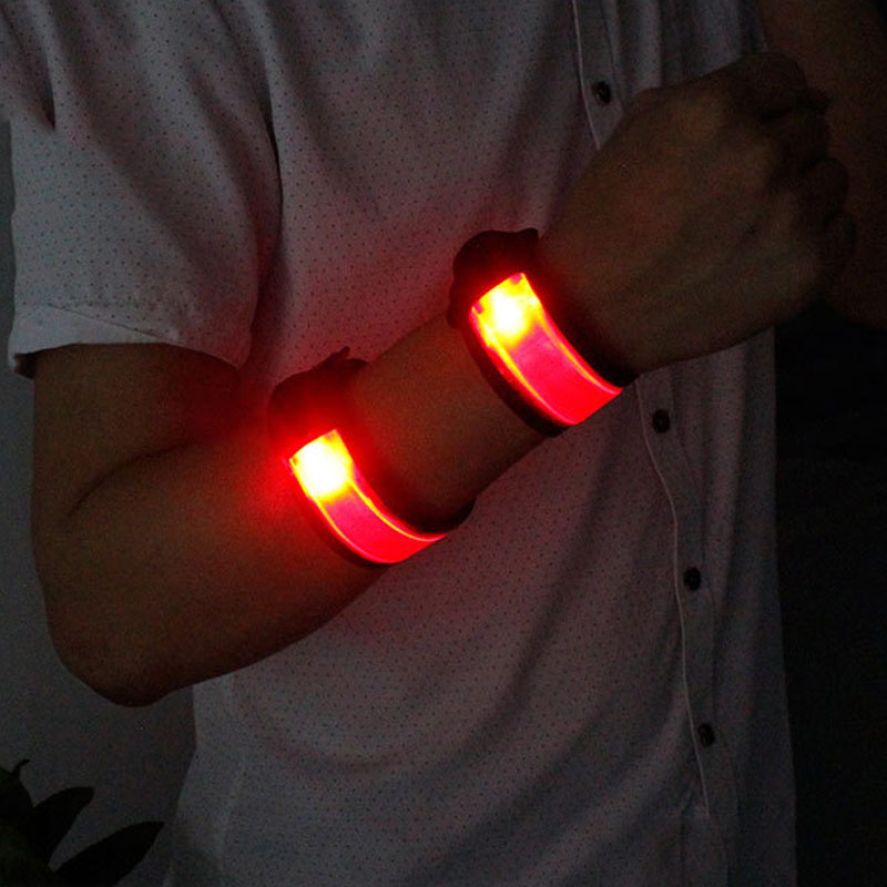 Genteel 6 Pcs/set Led Armband Flashing Arm Wrap Belt Safety Reflective Strap For Night Sport Cycling Running Zj55 Comfortable And Easy To Wear Running Running Arm Warmers