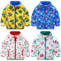 Baby Clothes Girl Jacket 2016 Winter Autumn Infant Outerwear Coat Children Causal Cartoon Double Coral Thick Tops Free Shipping