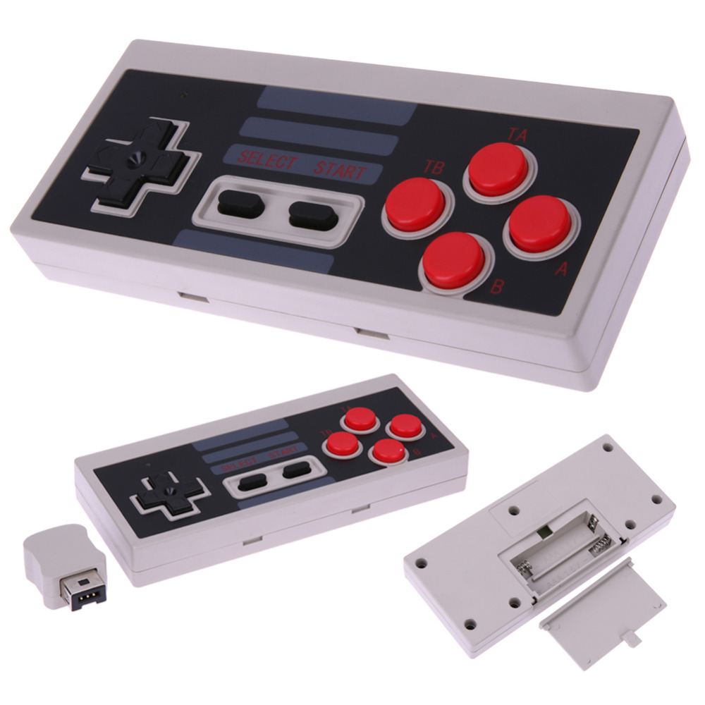 For NES Classic Edition Wirless Gampad Gaming Joystick Game Pad with wireless adapter for Nintendo NES Classic Mini for Wii