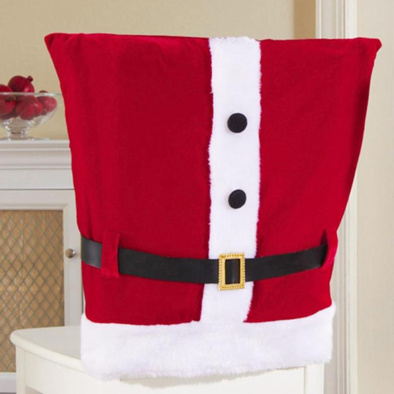 Santa Chair Covers Sets Upholstery For Chairs ᐂhot Claus Cloth Christmas Dinner Table Party Hot L30