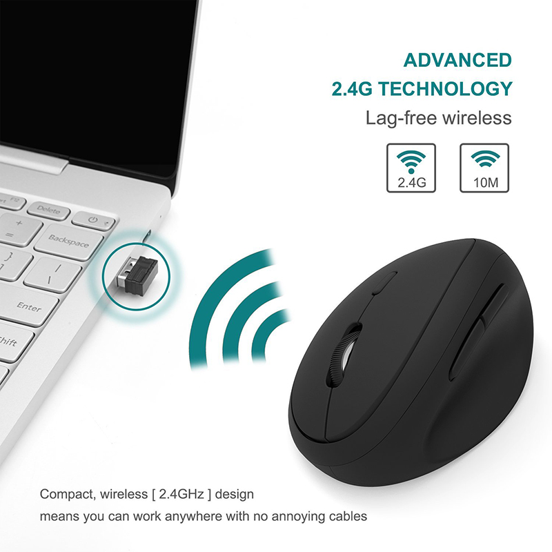 Image 5 - Jelly Comb Ergonomic Mouse Right Hand 2.4GHz Wireless Vertical Mouse for PC Laptop Optical Mice 800/1200/1600 DPI  6 ButtonsMice   - AliExpress
