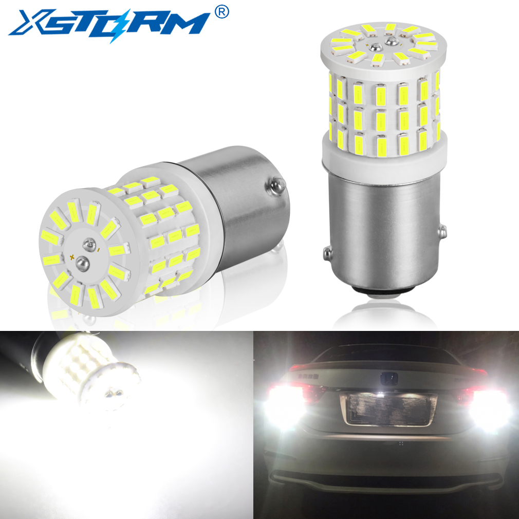 2Pcs Ceramic LED 1157 BAY15D P21/5W LED Bulb 1156 BA15S P21W R5W R10W Car Light DRL Daytime Running Reverse Lamp 6000K White 12V