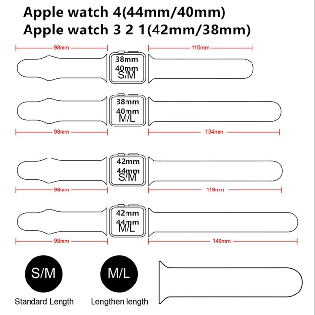 Silicone strap For Apple Watch band 42mm/38mm iwatch 4/3 Band 44mm/40mm Sport bracelet Rubber watchband for apple watch 4 3 2 1 5