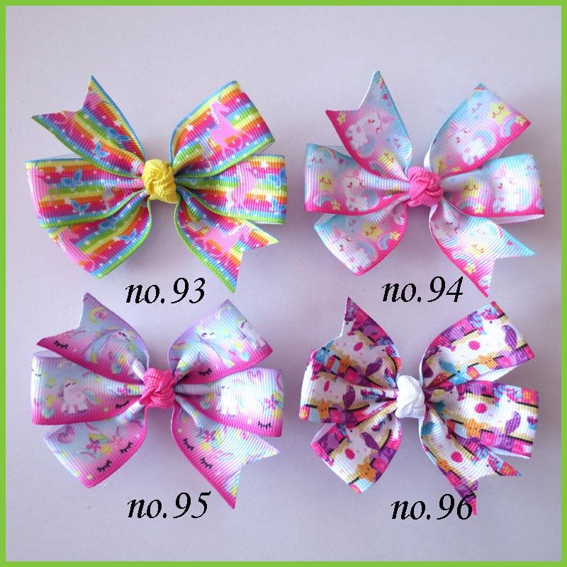 """100 BLESSING Girl Braid 3.5/"""" Double Abby Hair Bow Clip Hair Accessories 42 No."""