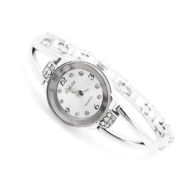 Hot Sales Stainless Steel Bracelet Watch Women Ladies Crystal Dress Quartz Wrist