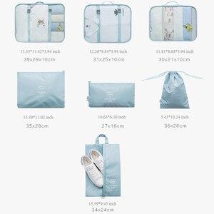 Image 5 - Hohe Qualität 7 Teile/satz Verpackung Cube für Koffer 2020 Reise Veranstalter Tasche Frauen Männer Schuh Kleidung Gepäck Reisetaschen