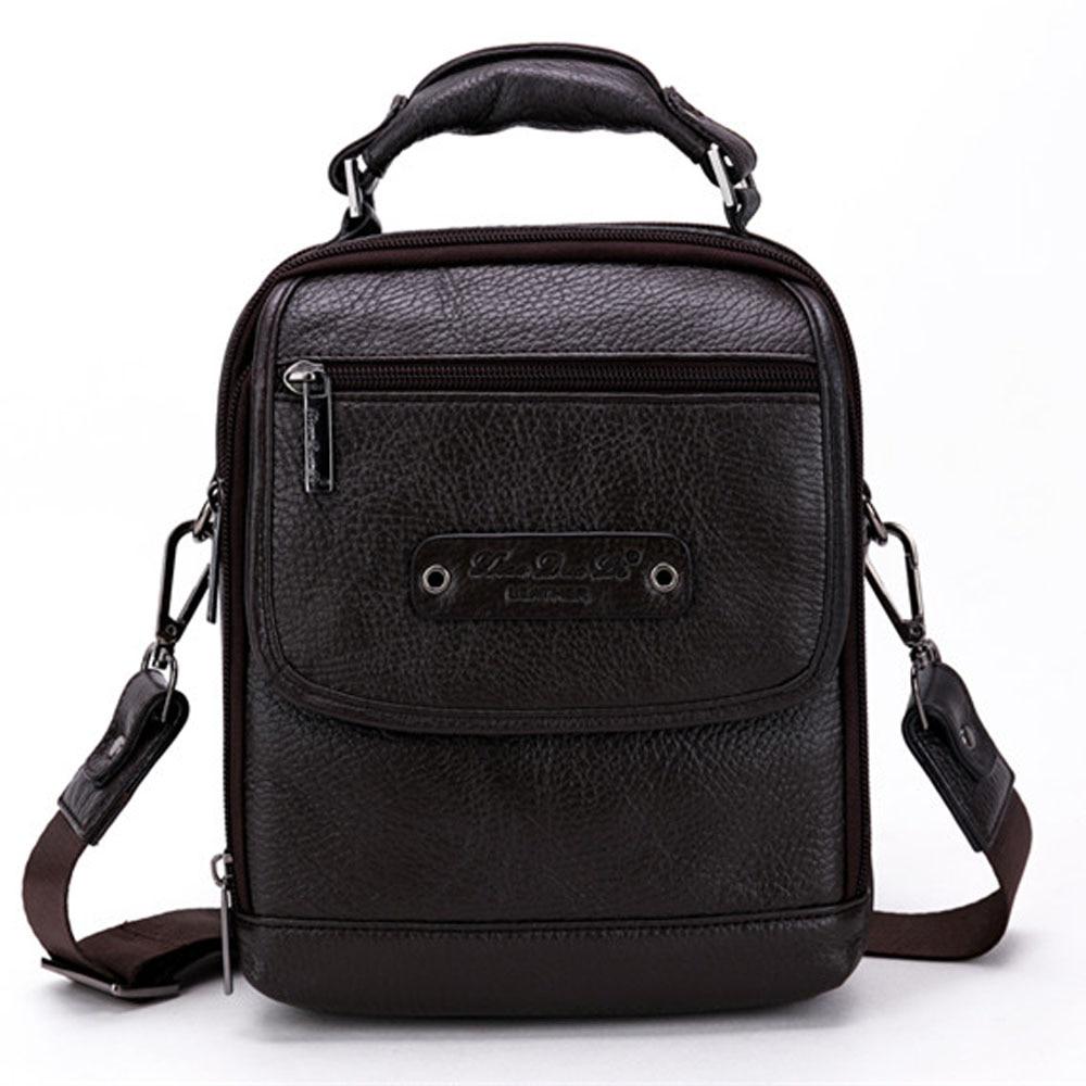Men High Quality Business Handbag Fashion Genuine Leather Cowhide Messenger Single Shoulder Bag Briefcase Handbags new fashion handbags genuine leather business men s briefcase high quality messenger bag men leather black 48zp01