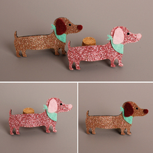 Glitter Pink Gold Dog Hair Clip