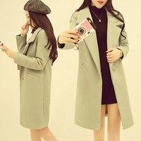 KJA243 High Quality Wool Coat Women Slim long Sleeve Jacket Fashion Temperament Female Outwear Coat Brand Women Jacket Overcoat