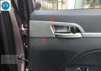 Lapetus Inner Door Handle Knob Bowl Pull Frame Cover Trim 4 Pcs Fit For Hyundai Elantra Sedan 2016 2017 ABS Accessories Interior