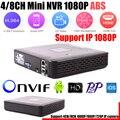 Mais novo Mini NVR Full HD de 4 Canais de Segurança De 8 Canais Standalone CCTV NVR 1080 P 4CH 8CH ONVIF 2.0 Para O Sistema de Câmera IP 1080 P