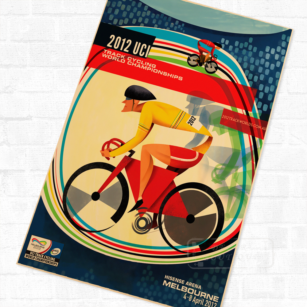 Bicycle Bike Marathon Amsterdam Vintage Retro Kraft Poster Canvas ...