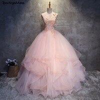 Plus Size Quinceanera Dresses 2018 Ball Gown Quinceanera Dress Pink Debutante Gowns Girls Prom Dress vestido de festa 15 anos