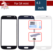 цена на High Quality For Samsung Galaxy S4 mini i9190 i9195 i9192  Front Outer Glass Lens Touch Screen Panel Replacement
